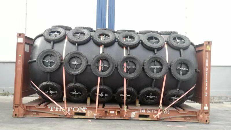 Foam filled fender for Greece petroleum company