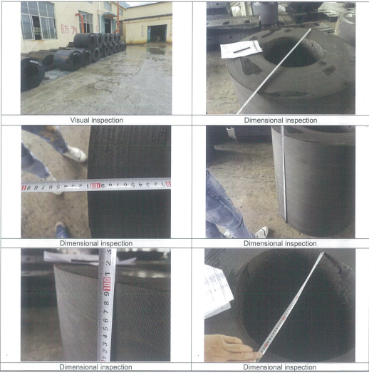 Third party inspection of rubber fender