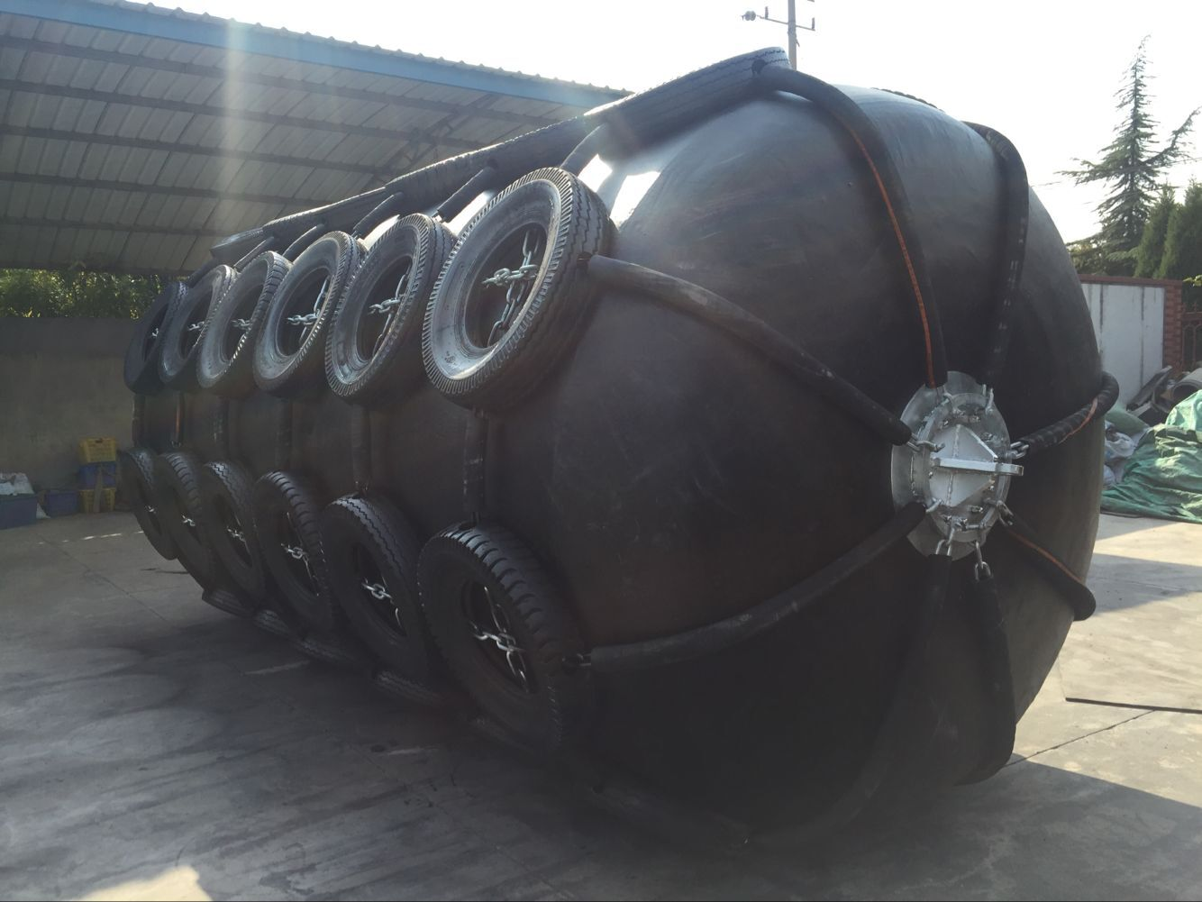Foam filled fender for Greece petroleum company